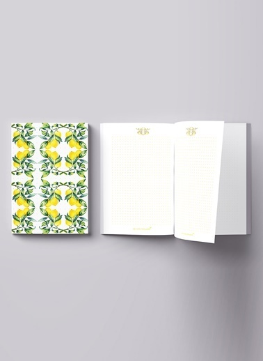 LWP Shop Amalfi Lemon Notebook Renkli